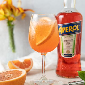 Grapefruit Aperol Spritz Cocktail Recipe