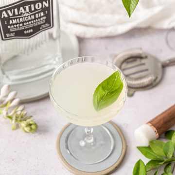 Basil Gimlet Cocktail Recipe with Aviation Gin