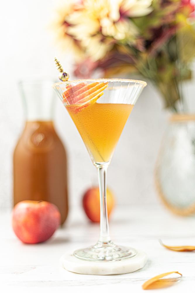 Autumn Spiced Apple Martini