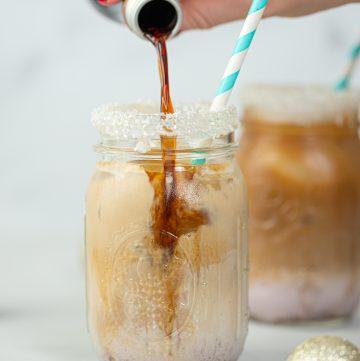 Boozy Sugar Plum Iced Coffee Cocktail