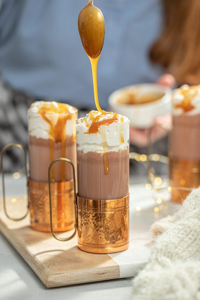 Boozy Caramel Hot Chocolate