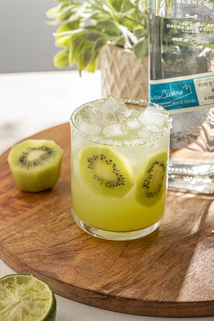 Kiwi Fruit Margarita Cocktail with Blanco Tequila