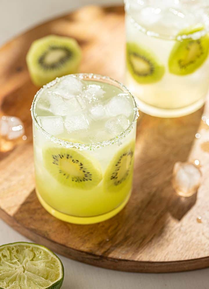 Kiwi Fruit Margarita Cocktail with Blanco Tequila. Perfect for National Margarita Day or any time!