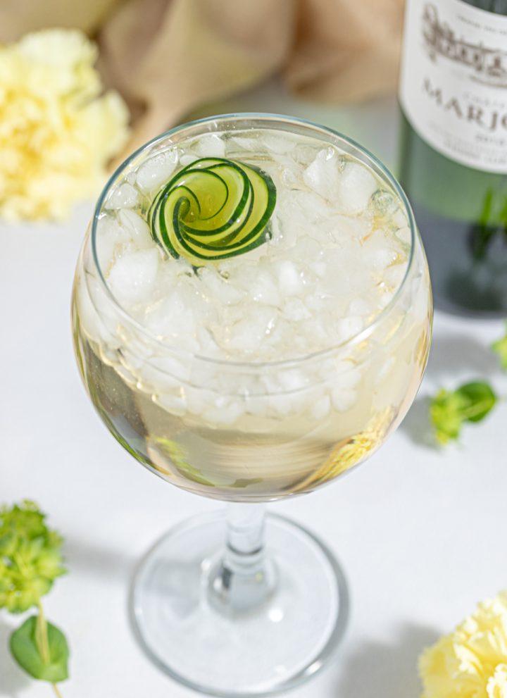 Elderflower Cucumber Spritz White Wine Cocktail