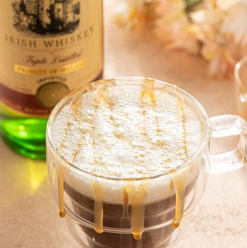 Caramel Irish Coffee Whiskey Home Made Whipped Cream
