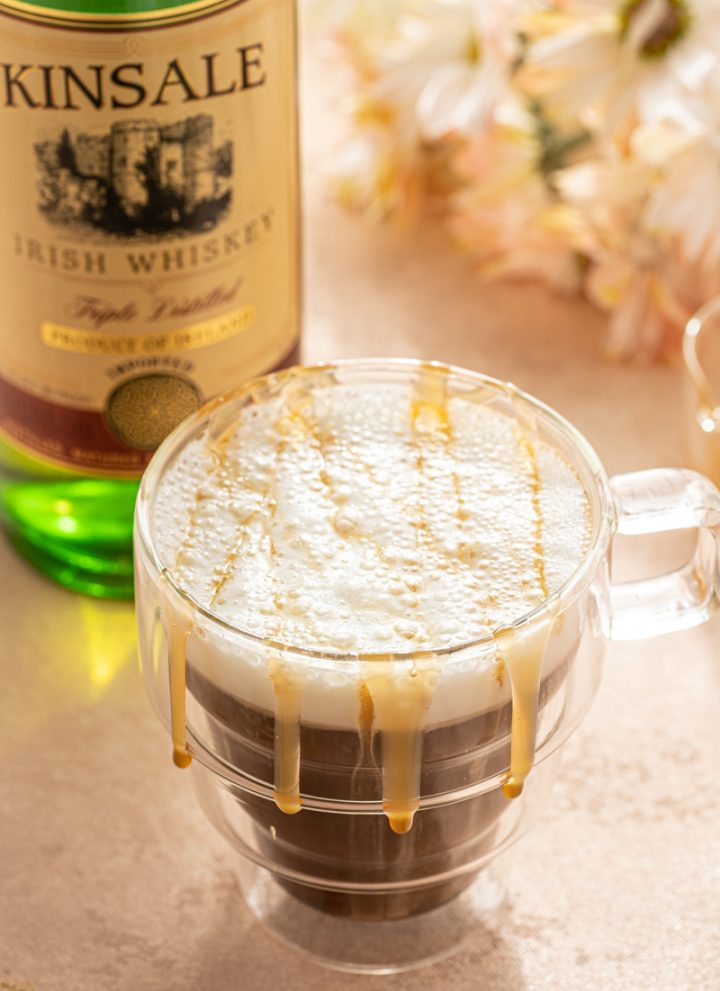 Caramel Irish Coffee Whiskey Home Made Whipped Cream