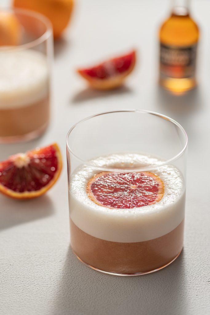 Rum Blood Orange Sour Egg White Cocktail