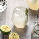 Rosemary Syrup Mezcal Moscow Mule Cocktail with Ginger Beer