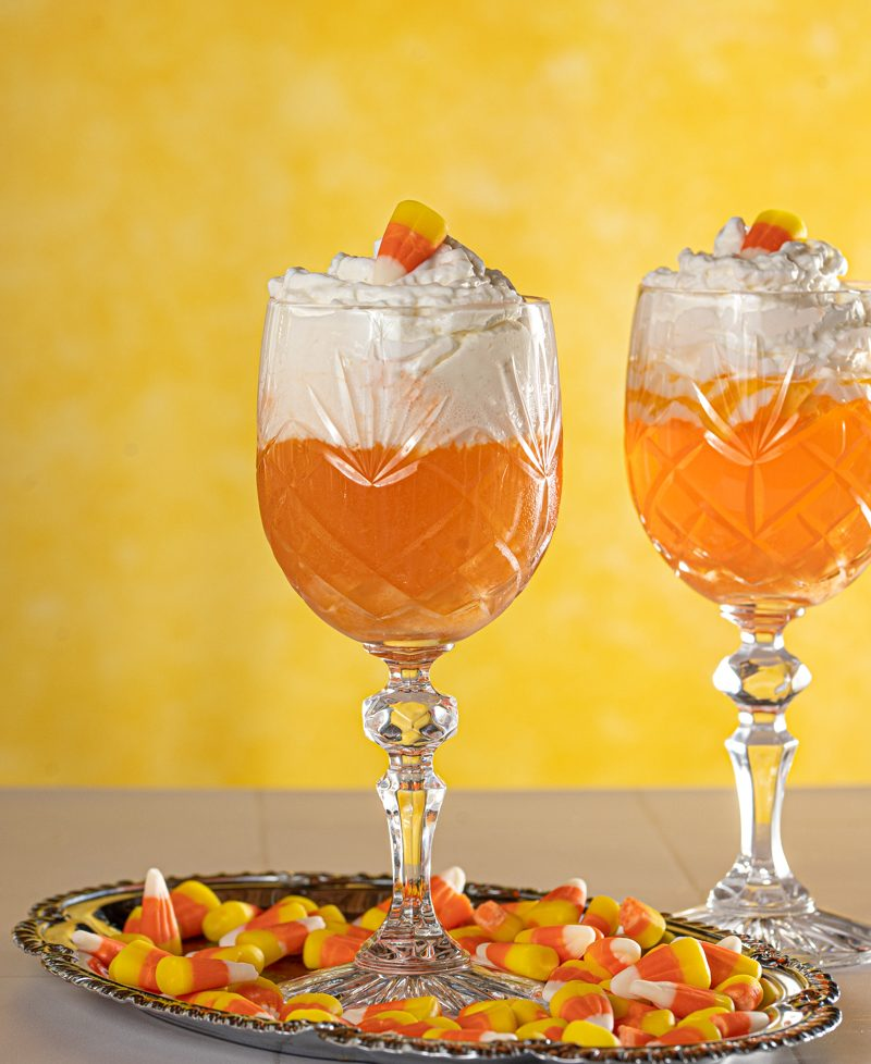 Candy Corn Martini Infused Vodka Cocktail