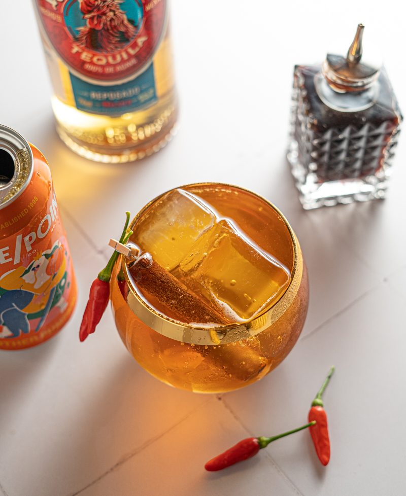 Spicy Pumpkin Beer and Tequila Fall Cocktail